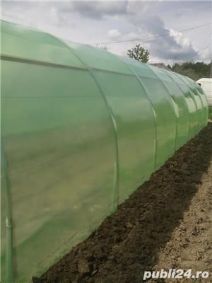 solar legume si flori 28 m lungime /4 m deschidere/ 2,6 m inaltime - imagine 1
