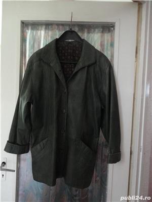haina de piele verde culoarea anului  - imagine 5