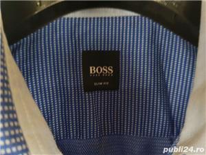 Camasa barbati Hugo Boss originala marimea M albastra slim fit  - imagine 2