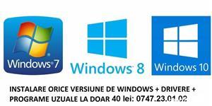 instalez sisteme de operare Windows XP, 7, 8.1 si 10 in Pitesti - imagine 1
