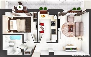 Apartamente noi , 2 camere D, Comision 0% la doar 2 km de Palas Mall - imagine 7
