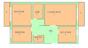 Apartament 3 camere, decomandat, 74m2 centru, mobilat si utilat, Slatina - imagine 2