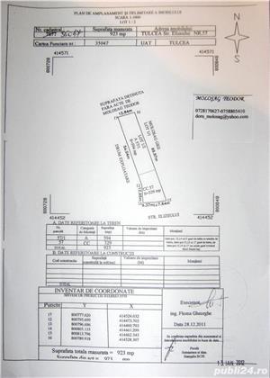 Vand-schimb-inchiriez teren intravilan Tulcea-923 mp. - imagine 2