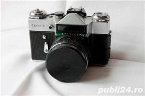 Super Okazie - aparat foto cu film Zenit E + exponometru Leningrad 4  - imagine 2