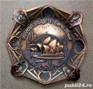 Placheta in relief, aplica bronz tema Australia Harbor Bridge & Opera - imagine 2
