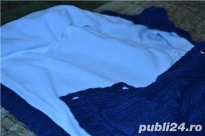 Vand hanorac tricotat imblanit, 6-9 luni - imagine 2