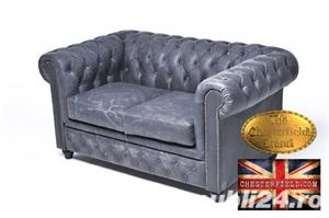 Canapea Chesterfield Brighton Vintage Black - imagine 2