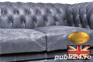 Canapea Chesterfield Brighton Vintage Black - imagine 4