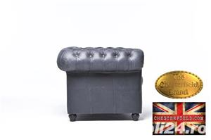 Canapea Chesterfield Brighton Vintage Black - imagine 5