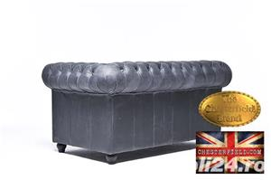 Canapea Chesterfield Brighton Vintage Black - imagine 6