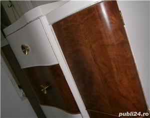 Sifonier vechi din lemn, reconditionat, alb (Mobila/Dulap/stil Art Deco) - imagine 4