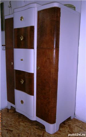 Sifonier vechi din lemn, reconditionat, alb (Mobila/Dulap/stil Art Deco) - imagine 1