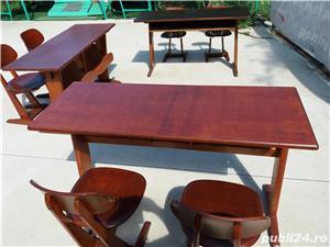 birou cu 2 scaune ptr. copii tip scoala - imagine 2