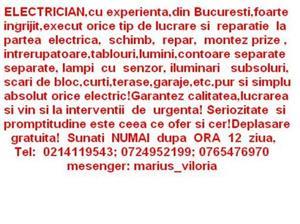 ELECTRICIAN REMEDIEZ RAPID ORICE DEFET ELECTRIC,ORICE LUCRARE ELECTRICA LA.ORICE NIVEL!!! - imagine 2