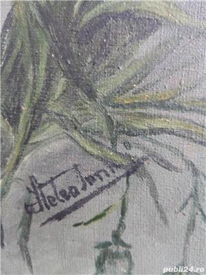 Tablou cu flori semnat ( Hetea ? Stelea Ion ? ) 50 x 25 cm ulei pe panza - imagine 2