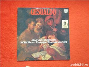 vinil rar Don Carlo Gesualdo – Madrigali-Responsorii (impecabil) - imagine 1
