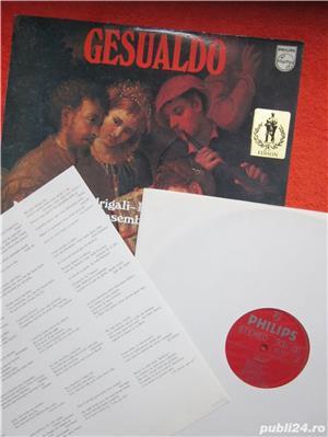 vinil rar Don Carlo Gesualdo – Madrigali-Responsorii (impecabil) - imagine 2