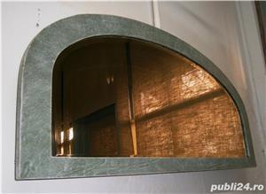 Oglinda veche din cristal cu rama din lemn, reconditionata (Mobila) - imagine 4