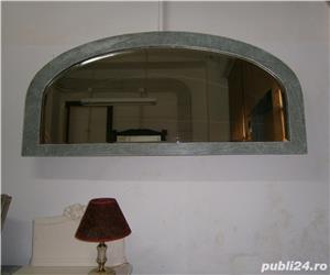 Oglinda veche din cristal cu rama din lemn, reconditionata (Mobila) - imagine 6