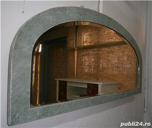 Oglinda veche din cristal cu rama din lemn, reconditionata (Mobila) - imagine 7