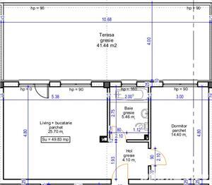 Apartament cu 2 camere cu gradina de 43mp - imagine 4
