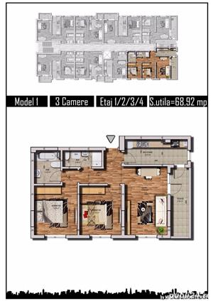 Apartament 3 camere, Str. Tineretului, Chiajna, langa RATB - imagine 2