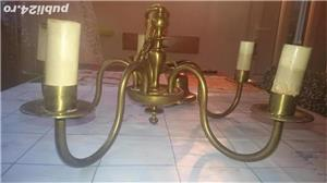 Candelabru de bronz cu 5 brate. - imagine 1