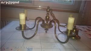 Candelabru de bronz cu 5 brate. - imagine 5