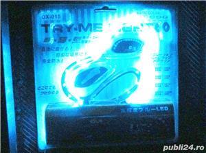 Bandou auto 24 leduri albe albastre silicon - imagine 8