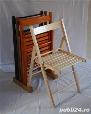 Scaune pliante din lemn de fag (PRET PRODUCATOR) - imagine 3