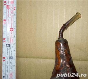 Pipa artizanala din lemn ( radacina ) functionala sau decor cca. 25 cm - imagine 4