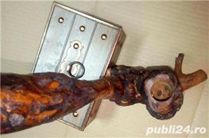 Pipa artizanala din lemn ( radacina ) functionala sau decor cca. 25 cm - imagine 2