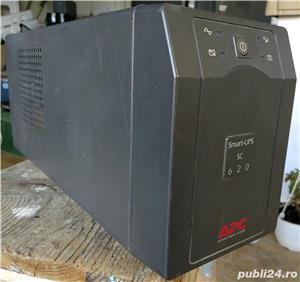 UPS APC Smart SC 620VA, f ieftin, are AVR, cu sau fara acumulator nou.  - imagine 1