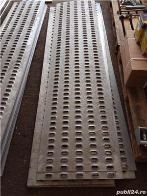 Tabla ambutisata pentru platforme auto din metal galvanizat (grosime 3 mm) sau aluminiu (grosime 4m - imagine 1