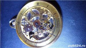 ceas de buzunar CATOREX 17 rubine mecanic suflat aur 18 k - imagine 5