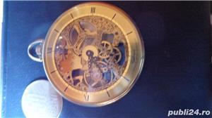 ceas de buzunar CATOREX 17 rubine mecanic suflat aur 18 k - imagine 4