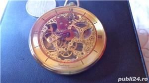 ceas de buzunar CATOREX 17 rubine mecanic suflat aur 18 k - imagine 1