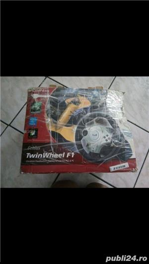 volan cu pedale pc  genius twiuwheel f1 - imagine 4