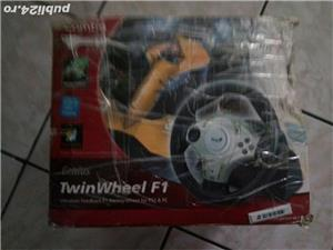 volan cu pedale pc  genius twiuwheel f1 - imagine 2
