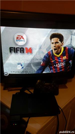 ps2 slim modat , fifa 14 , 1 maneta ,playstation 2 - imagine 4