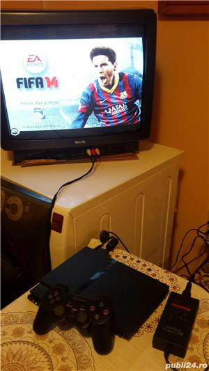 ps2 slim modat , fifa 14 , 1 maneta ,playstation 2 - imagine 5