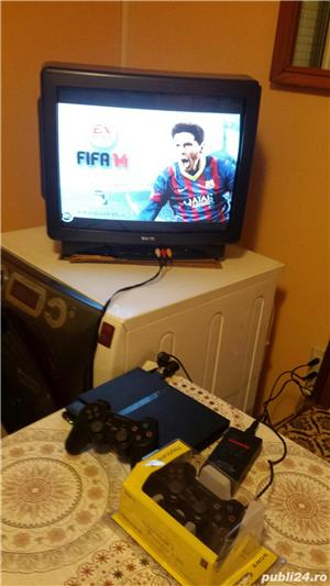 ps2 slim modat , fifa 14 , 1 maneta ,playstation 2 - imagine 3