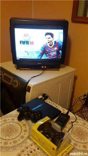ps2 slim modat , fifa 14 , 1 maneta ,playstation 2 - imagine 2