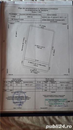 Mamaia nord loturi intre560 si 1700mp.pret 270€/mp. - imagine 3