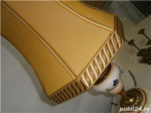 Lampadar vechi cu picior din portelan si metal (Lampa/Veioza abajur) - imagine 6