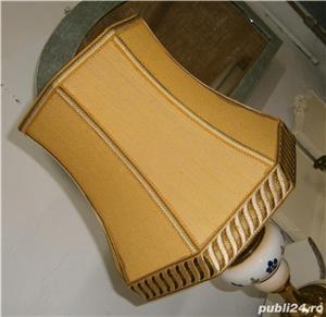 Lampadar vechi cu picior din portelan si metal (Lampa/Veioza abajur) - imagine 3
