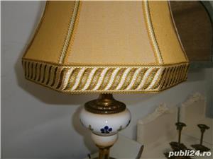 Lampadar vechi cu picior din portelan si metal (Lampa/Veioza abajur) - imagine 8