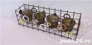 Suport metalic 4 lumanari - imagine 2