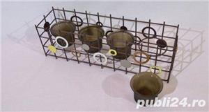Suport metalic 4 lumanari - imagine 5