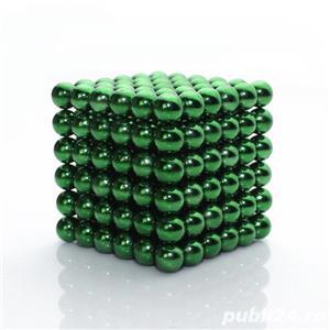 Neocube 216 bile magnetice 5mm, joc puzzle, culoare verde - imagine 1